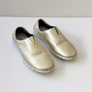 Vaneli Sport Gold Leather Shoes NWOB